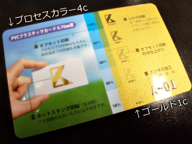 プラスチックカード-サンプル