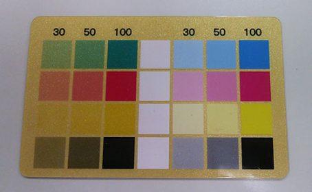 シルク印刷×デジタルオフセット印刷カード