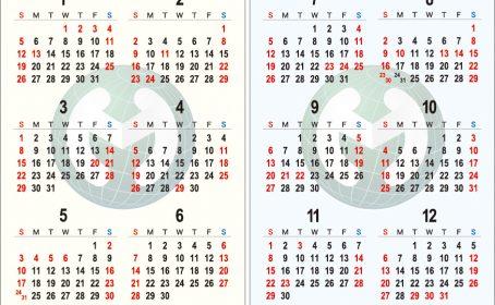 カレンダーカードご作成(マーク工業株式会社)