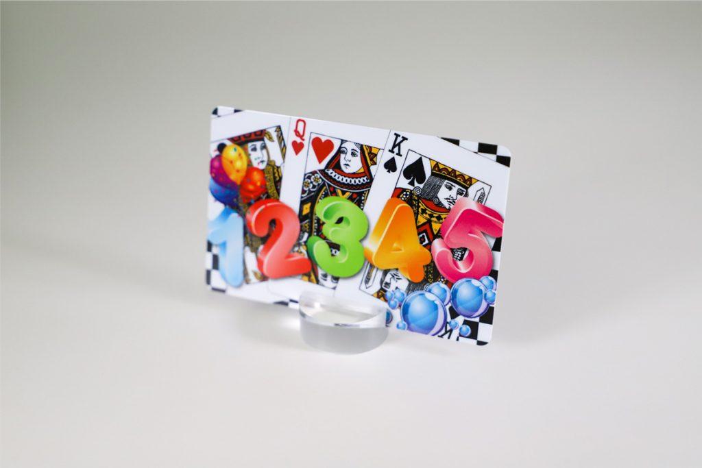 デジタルオフセット印刷で作成したカードサンプル