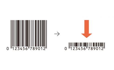 プラスチックカードの狭いスペースにバーコードを印刷したい。